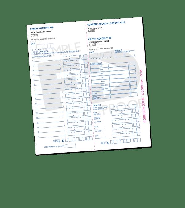 deposit slip book customizable form template