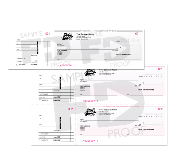 manual cheques custom product 1up 2up with stub