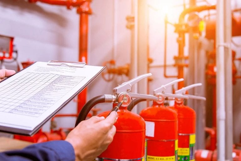 oil and gas inspection checklist fire extinguisher