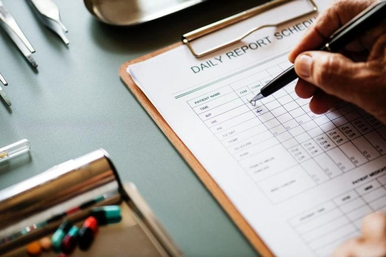 daily report schedule paperwork