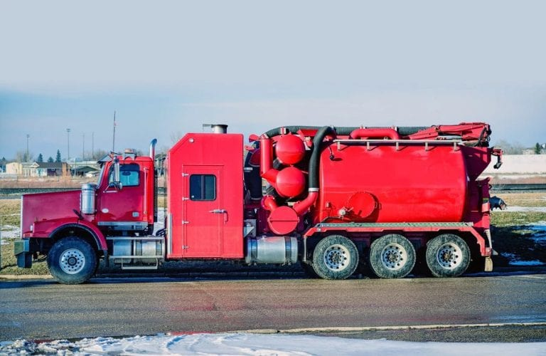 oil and gas hydrovac vacuum truck
