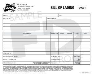 bill of lading transport custom form template