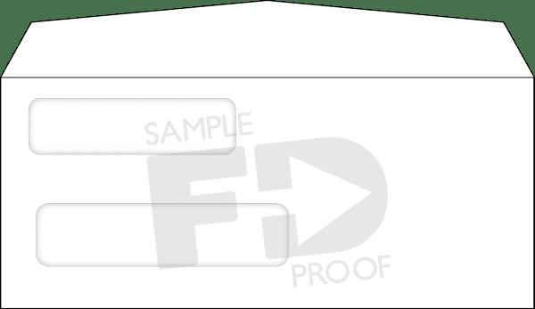 30A Twin Window Twindow envelope custom template