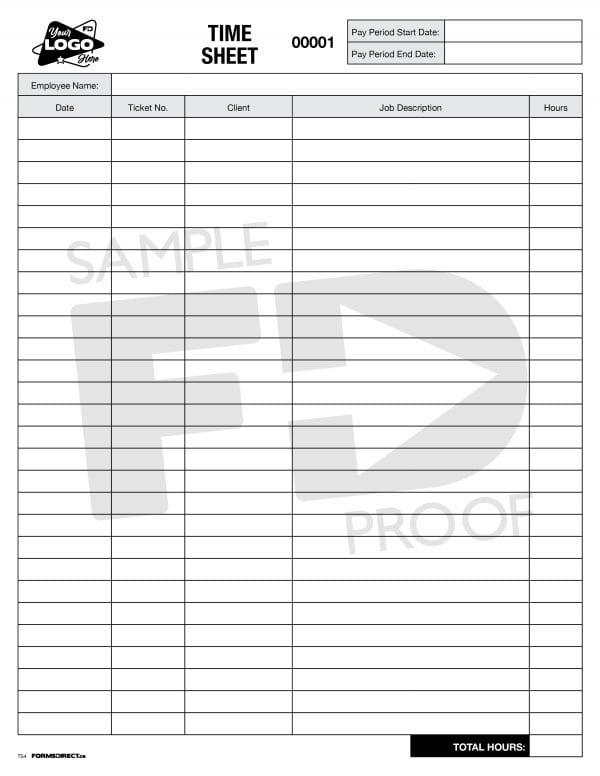 Time sheet customizable column headings