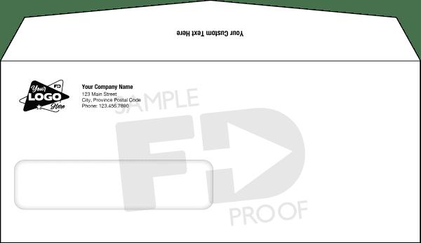 No. 10 Window envelope custom template