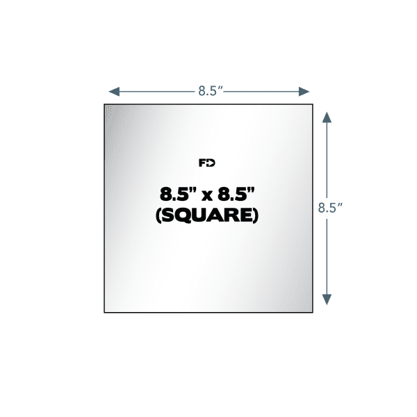 custom form page size square 8.5 x 8.5