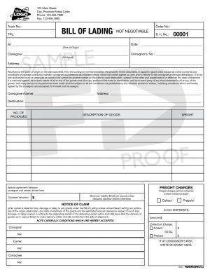 bill of lading bol3 transportation records ncr custom form