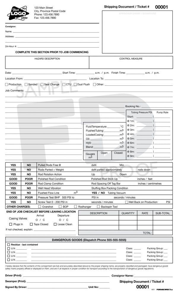 Flushby Truck Ticket custom form