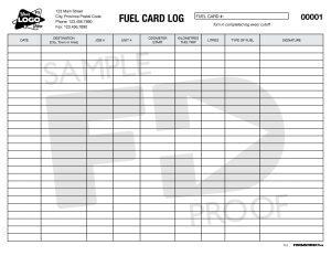 Fuel Log Custom Form Template