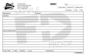 Hazard ID Near Miss Observation Custom Form Template