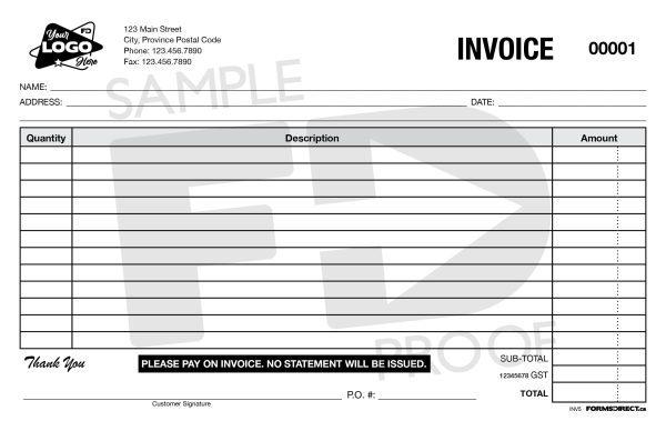 Invoice INV5 customizable form template