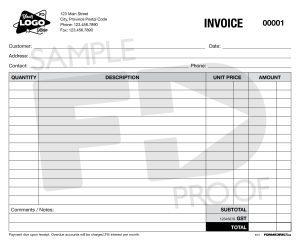 Invoice INV7 custom form template
