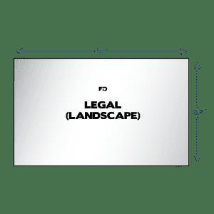 custom ncr business form legal landscape 14 x 8.5