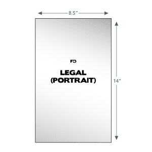 custom ncr business form legal portrait 8.5 x 14
