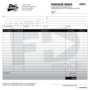 Purchase order PO3 grey gradient form template