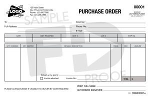 purchase order po6 editable form template