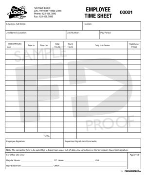 Employee Time Sheet Custom Form Template