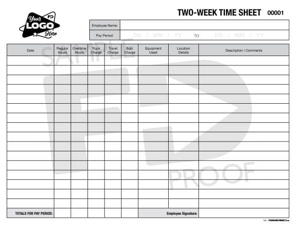 time sheet two week pay period custom template