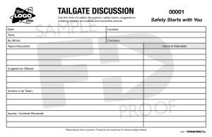 tailgate discussion customizable safety form template