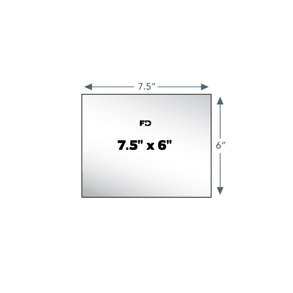 custom card 7.5 x 6 size
