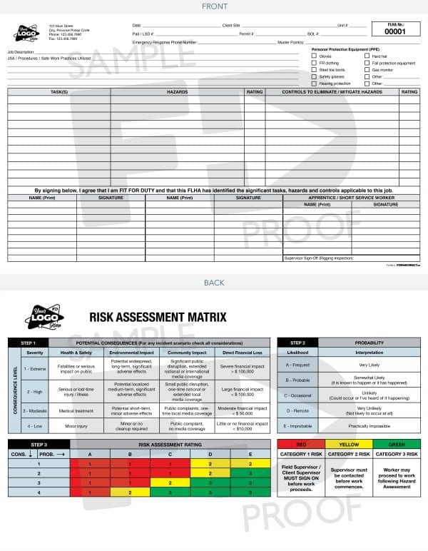 field level hazard assessment flha card product image