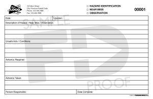 hazard id near miss customizable safety card