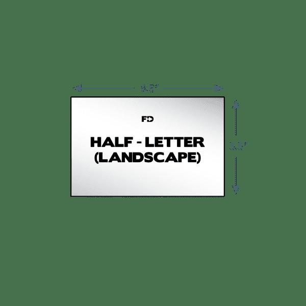 custom form half letter landscape