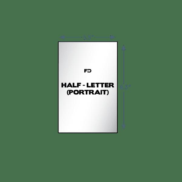 custom form half letter portrait