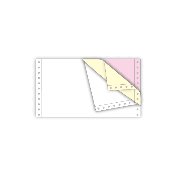 continuous feed ncr paper half letter 3 part white yellow pink