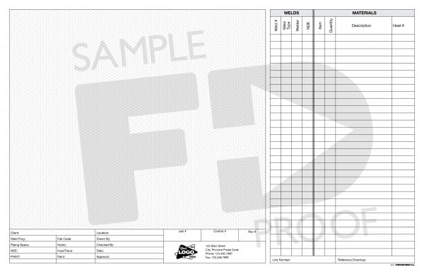 isometric note pad welding materials tabloid 17 x 11