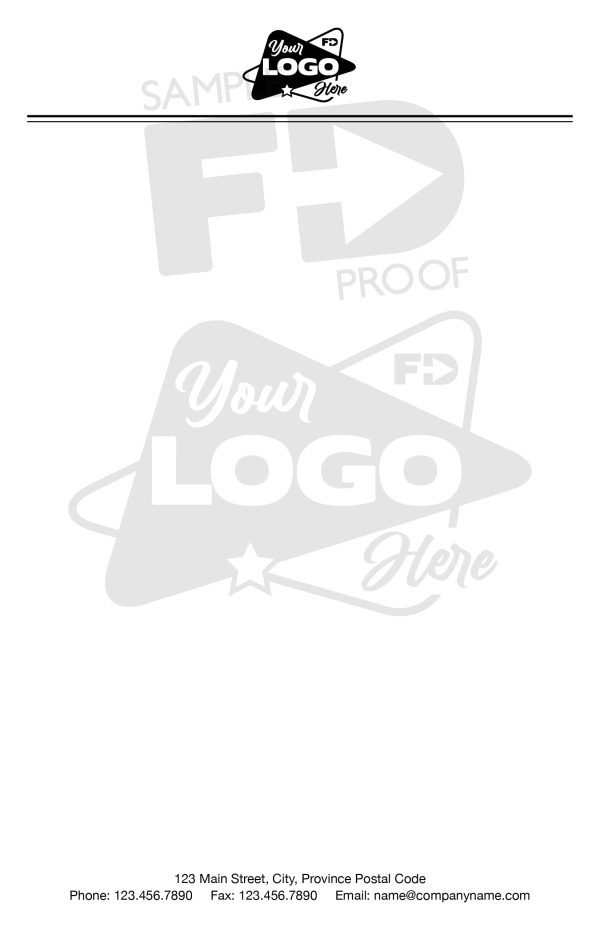 Half Letter Notepad Watermark Logo