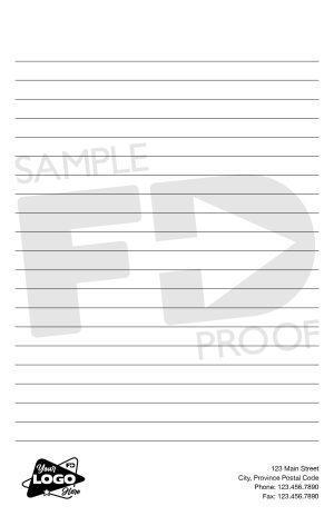 half letter custom lined notepad