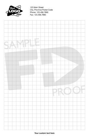 Half Letter Custom Notepad Box Grid