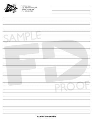 Custom Letter Lined Notepad