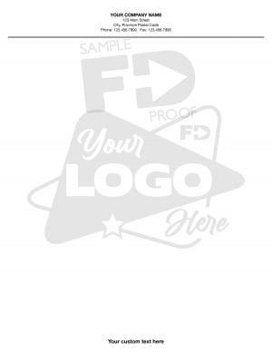 custom notepad watermark logo letter size 8.5 x 11