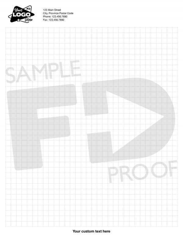 customizable notepad square grid letter size