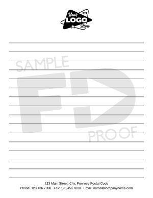 Pocket Lined Notepad Quarter Letter Size