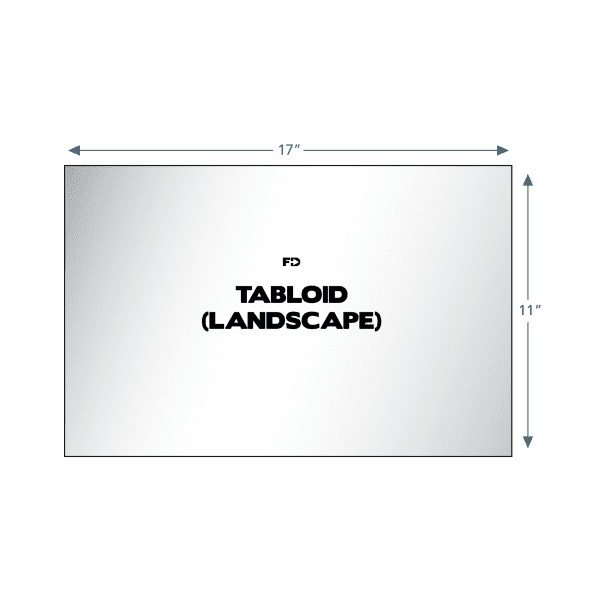 isometric note pad tabloid landscape