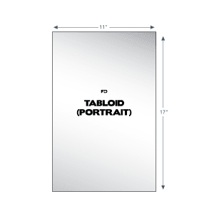 custom isometric note pad tabloid portrait